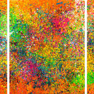 Summer garden, triptych